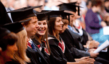 Image of Swansea University students graduating