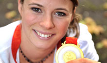 Image showing Liz Johnson, Swansea alumnus and gold medal-winning Paralympian