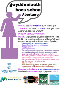 Soapbox Science Welsh flyer