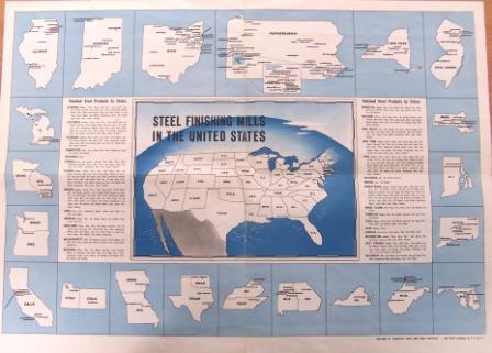 Steel archive - map of US steel mills