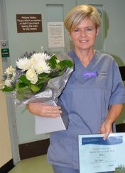 Mari Davies midwifery mentor of the year