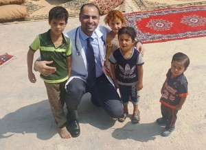 Dr Laith AllRubaiy with young patients